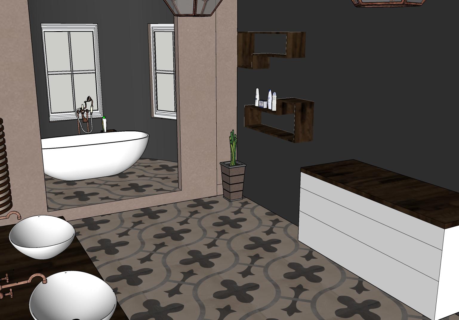 Denisa_¶lebsk†_koupelna_3Dvizualizace, 3.roün°k